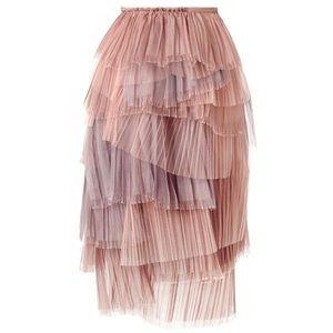 Burberry Prorsum Runway Tiered Tulle Skirt Silk 2